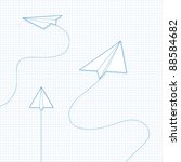 Paper Airplane On Graph Paper
