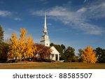 Presbyterian Church With Autum...