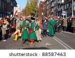 GDANSK, POLAND - NOVEMBER 11: Historical polish soldiers parade celebrating the 92nd Polish Independence Day on November 11, 2011 in Gdansk. - stock photo
