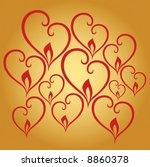 burning hearts | Shutterstock .eps vector #8860378