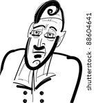 sketch drawing illustration of... | Shutterstock .eps vector #88604641