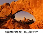 turret arch through the north... | Shutterstock . vector #88609699