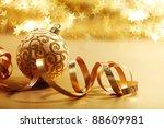 golden christmas card holiday... | Shutterstock . vector #88609981