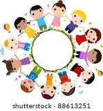 happy kids | Shutterstock .eps vector #88613251