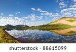 Mountain lake idyll in the Rocky Mountains in Colorado. - stock photo