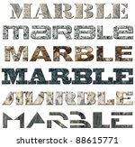 "six words ""marble"" in marble... 