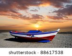 Fishing Boat Against Beautiful...