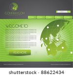 web site design template with... | Shutterstock .eps vector #88622434