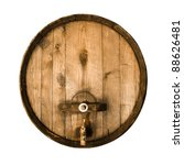 Old Wooden Barrel Isolated On ...