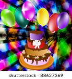 celebratory pie on an abstract... | Shutterstock .eps vector #88627369
