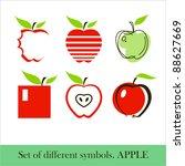 set of apple icons | Shutterstock .eps vector #88627669