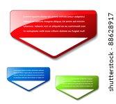 vector arrow banners for... | Shutterstock .eps vector #88628917