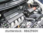 Small photo of KUALA LUMPUR - NOV. 12 : A Honda CR-Z Hybrid engine at Car of The Year 2U Autoshow (COTY2U 2011) on November 12, 2011 in Kuala Lumpur, Malaysia. Sales of the CR-Z in the US began in August 2010.