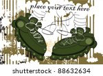 green military boots with stars ... | Shutterstock .eps vector #88632634