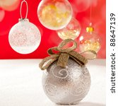 Christmas Silver Bauble With...