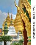 buddhism temple in bangkok ... | Shutterstock . vector #8864791