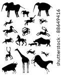 various african animals  ...   Shutterstock .eps vector #88649416
