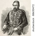 Small photo of Mehemed Fuad Pacha, Ottoman statesman and diplomat. Created by Marc after photo of Legray, published on L'Illustration, Journal Universe, Paris, 1858