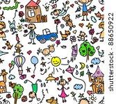 child pattern seamless | Shutterstock .eps vector #88650922