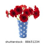 Bouquet Gerbera's In Blue White ...