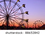 Carnival Rides At The State Fair