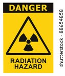 Radiation Hazard Symbol Sign O...