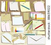 office supplies composition | Shutterstock .eps vector #88659022