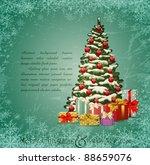 vector vintage festive... | Shutterstock .eps vector #88659076