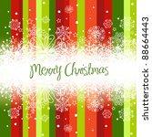 christmas background  stripes... | Shutterstock .eps vector #88664443