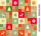 colorful seamless patchwork... | Shutterstock .eps vector #88666366