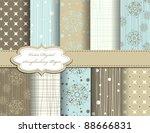 set of christmas snowflake... | Shutterstock .eps vector #88666831