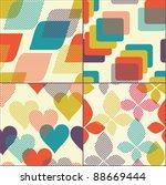 set of geometric seamless... | Shutterstock .eps vector #88669444
