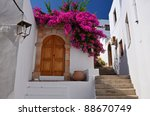 Greek House In Lindos Town ...