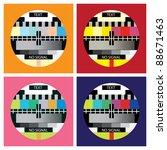 tv color test in pop art style  ... | Shutterstock .eps vector #88671463