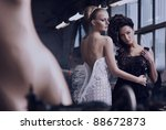 two stunning ladies in an old... | Shutterstock . vector #88672873