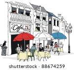 vector illustration of people... | Shutterstock .eps vector #88674259