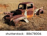 Wreck Of A Rusty Old Pickup...