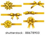 gift bow collection. vector | Shutterstock .eps vector #88678903