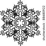 snowflake winter background....   Shutterstock .eps vector #88680922