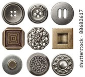 Vintage Metal Sewing Buttons ...