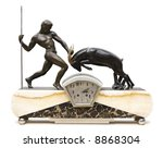 Table Clock With Statuettes....