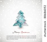 christmas card with tree  ... | Shutterstock .eps vector #88686052