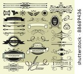 vintage signs | Shutterstock .eps vector #88689436
