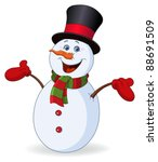 cheerful snowman   Shutterstock .eps vector #88691509