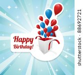 illustration for happy birthday ... | Shutterstock .eps vector #88692721