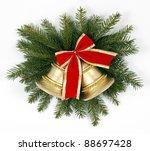 two golden bells on the...   Shutterstock . vector #88697428
