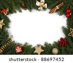 decorative christmas bordering... | Shutterstock . vector #88697452