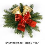 two golden bells with the red... | Shutterstock . vector #88697464