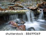 in a beautiful silky water river | Shutterstock . vector #88699069