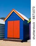 Brightly Coloured Beach Hut On...